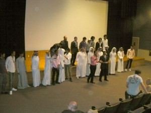 Saudi Arabian students introduce themselves to WCU