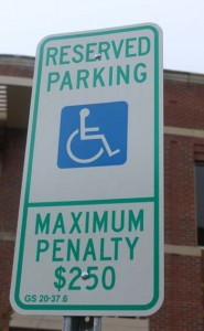 WCU Not-so-handicap parking