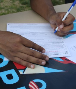 Students turn out for Voter Registration Day
