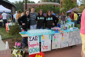 WCU Greek Life support Relay's for life. Photo: Jillian Woods.
