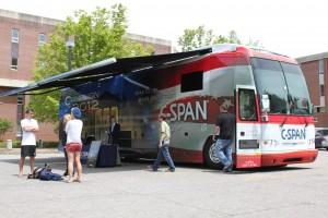 C-SPAN Campaign 2012 Bus visits WCU