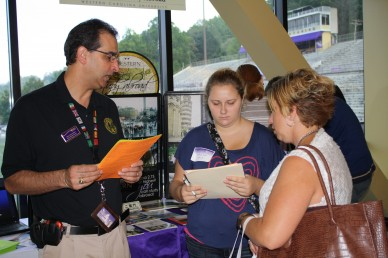 Future Catamounts finding out information about various WCU programs. Photo by Alisha Lambert