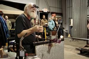 Glassblowing artist Fritz Dreisbach visits WCU