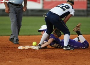 Softball player competes at all costs