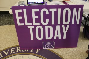 2013 SGA election day poster