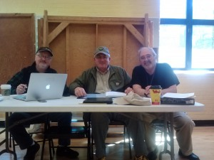 Casting directors Bruce Frasier (left), Don Connelly (center), and producer Steve Carlyle (right) oversee the audition process.