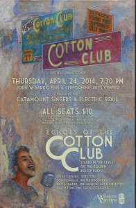 Poster for Echoes' of the Cotton Club. Photo courtesy of WCJ.