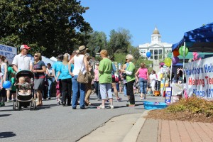 Visitors to the 17th Greening up the mountain festival in Sylva enjoyed many vendors. Photo by Hunter Bryn.
