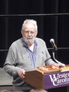 Walter Ziffer, a Holocaust survivor, speaks to WCU audience. Photo by Kaylyn McCarraher.