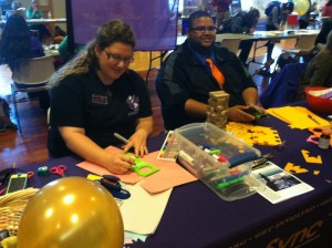 OrgSync volunteers make cards for hospital patients.