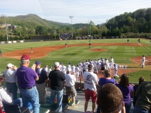 Catamount fans cheer for the team. School spirit leads to win against Appalachian State, May 2, 2014. Photo by Taylor Allison.