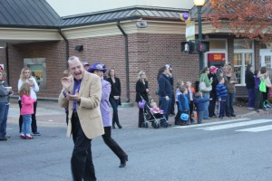 WCU Homecoming 2014 Main Street Parade. David Belcher leads the parade. Photo by Michael Williams