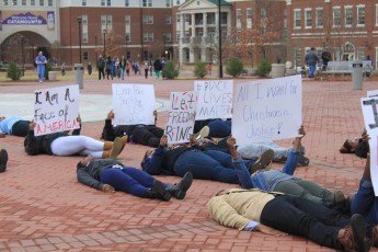 WCU students join the country's protests demanding justice for Erica Gardner and Michael Brown. Photo by Michaella Neal.