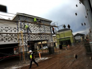 The new outlet will be ready May 1, 2015. Photo courtesy of William Woody of the Asheville Citizen Times.