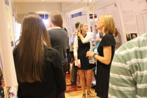 WCU students presenting their conduct research. Photo taken by Darren Blackwell.