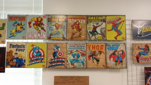 Some of the more well known comics were present as well as others. Photo taken by Becca Roberts.