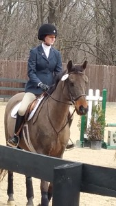 Caitlin Morgan riding. Photo courtesy of Angela Fowler.