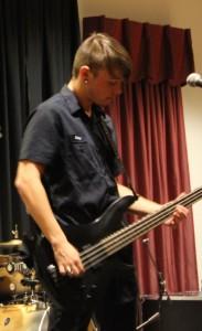 Gavin Stewart, WCU freshman and bass guitar player for Fault Union