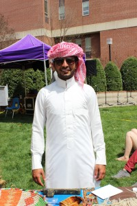 Saleh Almuhamidh [Hoota] in traditional Saudi Arabian vestments.