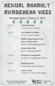 Sexual Assault Awareness Week begins at WCU