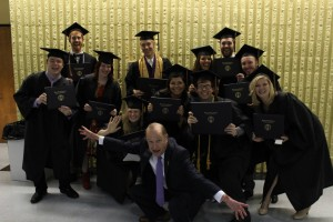 The new graduates from Communication department. Among them many editors and contributors to the Western Carolina Journalist. Photo by Hunter Bryn.