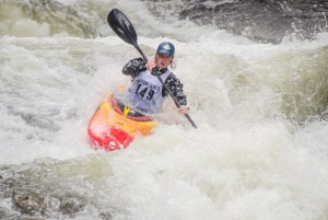 Eric Bartl on the river in his kayak. Photo by Sarah Ruhlen, WCU student.