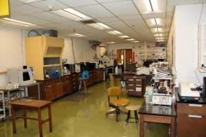 One of the labs in Natural Sciences shows the conflict between modern equipment and outdated architecture. Photo by Haley Smith.