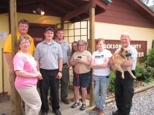 Jackson County Animal Shelter volunteers and staff via http://animal.jacksonnc.org