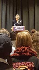 Carlotta Walls LaNier speaks at WCU