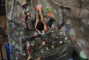 Staff Writer takes on Base Camp Cullowhee's rock wall
