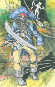 An illustration of the infamous Blackbeard, via wcu.edu