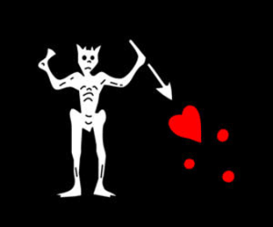 Blackbeard's flag symbol, via FlagLine.