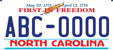 First in Freedom License plate