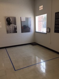 A recreation of Nelson Mandela's prison cell layout on Robben Island. Photo credit: Haley Smith