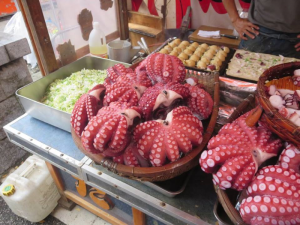 Octopus and other eccentric Japanese foods. Photo provided by Nash.