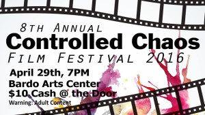 This year's Controlled Chaos promotional poster. Photo provided by: Mikayla Ronnow