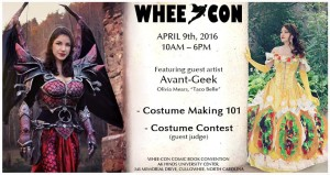 The poster for this year Whee Con.