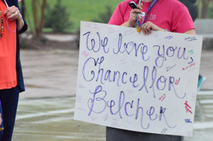 Catamounts roar in support of Chancellor Belcher