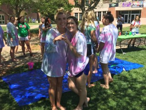 "The Delta Zeta Sorority promoting there ""Paint a Delta Zeta"" table. Photo by David Johnson."