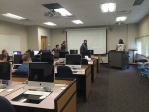 Photo taken during a communications class at WCU. Photo by: Julia Hudgins