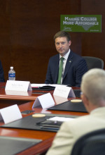 State budget director discusses college affordability with WCU students, leaders