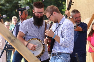 Mountain Faith band members Brayden McMahan and Cory Piatt playing to the crowd. Photo by Calvin Inman