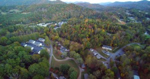 Arial view of Ledbetter Road. Photo from The Sylva Herald.