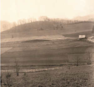 Former Cherokee ancestral mound before it was leveled to make room for Killian Building. Photo courtesy of WCU historic walking tour.