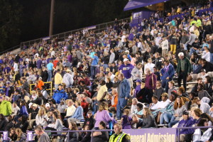 The crowd at their feet at the beginning of the second half. Photo by Calvin Inman.