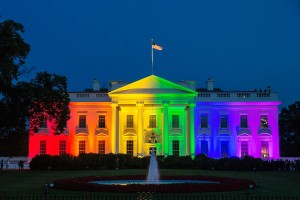 The White House beamed with lights of support the night of last year's Supreme Court ruling. Photo courtesy of NY Daily News