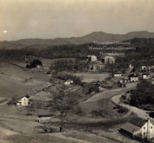 Old photo of campus could date back to as early as 1920s. Photo courtesy of Special Collections, Hunter Library, WCU.