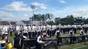 "The band performed ""Whee See You"" two times on Saturday, Oct. 15, 2016, for two different audiences in Columbia, SC. Photo courtesy of Blythewood High School Band."