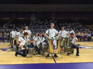 WCU Drum line rocked Ramsey during the WCU basketball kick-off of Homecoming week, Oct. 24 2016. Photo by Gavin Stewart.