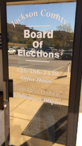 The voting site at the Jackson County Board of Elections, November 4, 2016. Photo by Amber Degree.
